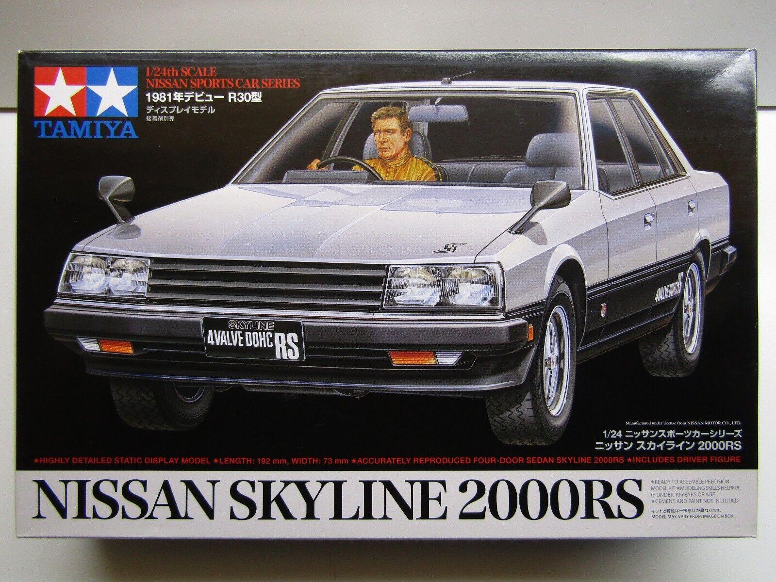 Tamiya 1 24 Scale Nissan Skyline 2000RS 4 Door Model Kit - New - 2200