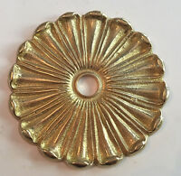 3 1/4 Solid Brass Ornate Flower Bobeche Lamp Part Raw Unfinished Brass