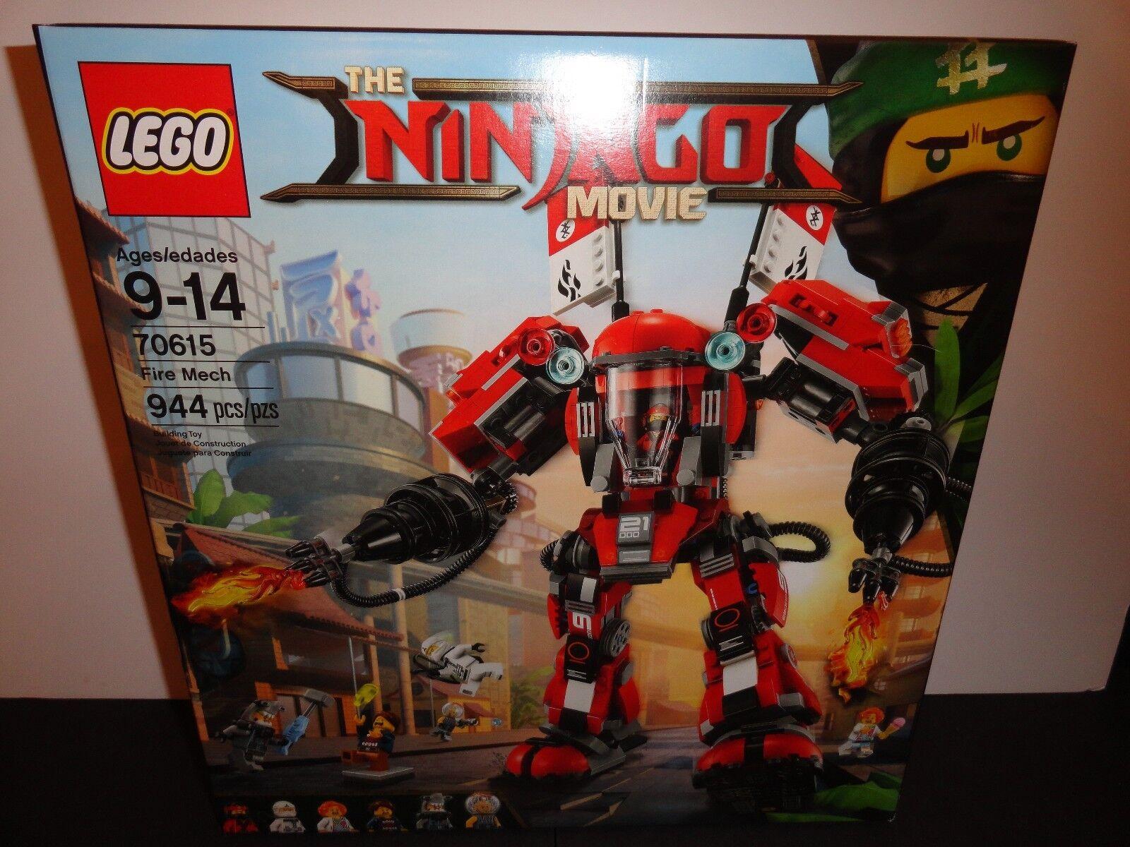 LEGO 70615 THE NINJAGO MOVIE FIRE MECH 944 PIECES   NEW