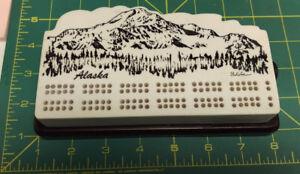 Alaska-Cribbage-Board-Mount-Denali-Mt-Mckinley-beautiful-heavy-duty-board