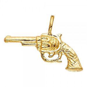 14k yellow gold pistol gun pendant gjpt1579 ebay image is loading 14k yellow gold pistol gun pendant gjpt1579 aloadofball Image collections