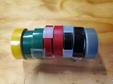 8 Vintage Rolls Label Tape By Rotex Black Red Green Gray Yelliw Asstd Widths