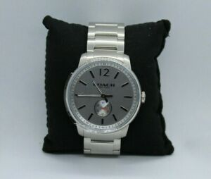 Coach-Bleecker-Silver-Watch-For-Men-New-In-Box-Without-Tags-CA-17-2-14-1220-NIB