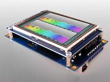 EVOR04: Color LCD touchscreen VU meter / Oscilloscope / Real time analyzer ...