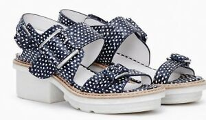 3-1-Phillip-Lim-Mallory-Navy-and-White-Chunky-Platform-Sandals-Size-8-38B-495