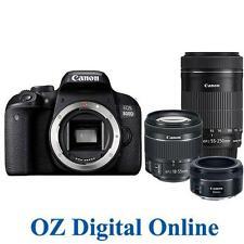 NEW Canon EOS 800D 50+18-55+55-250 Tri STM Lens Kits 24.2MP DSLR Camera 1YrAuWty
