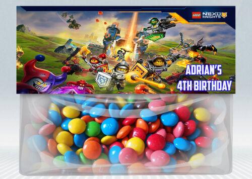 Lego Nexo Knights Personalized Birthday Treat Bag Topper Printable DIY