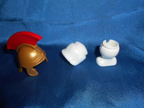 Playmobil Römer Set Helm gold Kamm Haare weiß Büste Perrückenhalter unbespielt