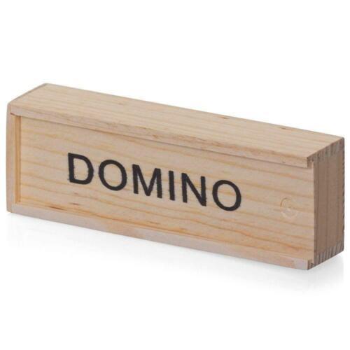 Toy CHILDREN/'S WOODEN BOXED DOMINOES SET