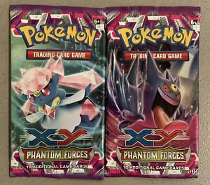 XY Phantom Forces Booster Pack Art Lot Of 2- Pack Only No Cards