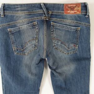 7822e7cb7 Image is loading Womens-Tommy-Hilfiger-VICTORIA-STRAIGHT-Stretch-Slim-Blue-
