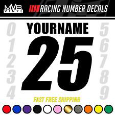 Racing Number Name Vinyl Decal Sticker Dirt Bike Plate Bmx Motocross Car Truck