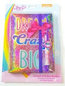 New Jojo Siwa DREAM CRAZY BIG Holograph Large Notebook Diary Journal  Pen School