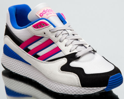 Adidas Originals Ultra Tech Hombre Nuevo Cristal Blanco Golpes Rosa Core Negro