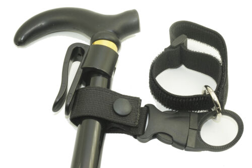 Replacement Walking Stick Cane Wrist Strap /& Cane Crutch Clip Holder Grip Aid