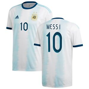 Adidas Argentina Copa America 2020 Messi 10 Home Soccer Jersey Brand New Ebay