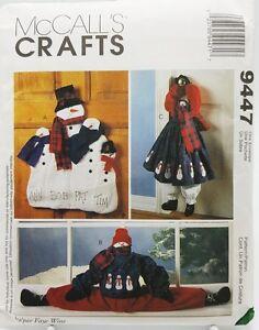 Christmas-Snowman-Wall-Door-Hanging-Draft-Blocker-Pattern-9447-McCalls-New