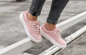 Details zu PUMA SUEDE PLATFORM MONO SATIN Wildleder Damen Sneaker Schuhe Classic 365828 03
