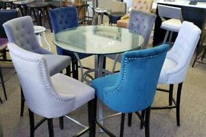 Kitchen Counter Height Stools with Back in 6 Fabric Colors on SALE Toronto (GTA) Preview