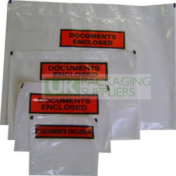 Printed Document Enclosed Wallets Clear Envelopes Labels A6 Size CHOOSE YOUR QTY