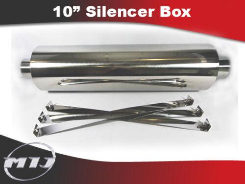 "10/"" Silencer Box  3.5/"" 4/"" 4.5/"" Inch Inlet Lorry Van Truck LDV Scania Coach"