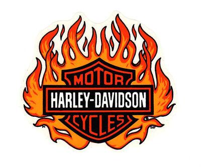 Harley Davidson Bar And Shield >> 6 Genuine Harley Davidson Flame Bar And Shield Flame Inside Window Decal Ebay