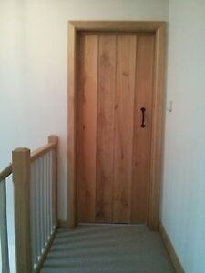 Solid Wood Internal Doors >> Details About Solid Oak Internal Doors Ledged T G Farmhouse Cottage Barn Door Handmade