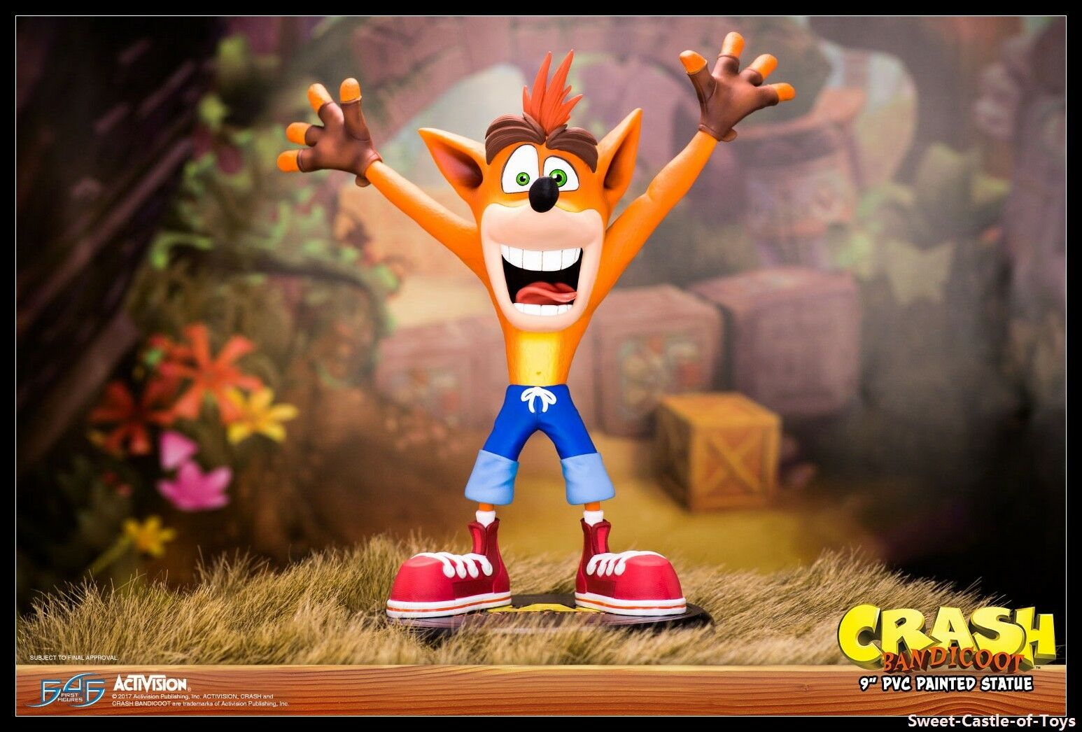 First 4 Figure 9  Video Game PVC Crash Bandicoot Painted Statue