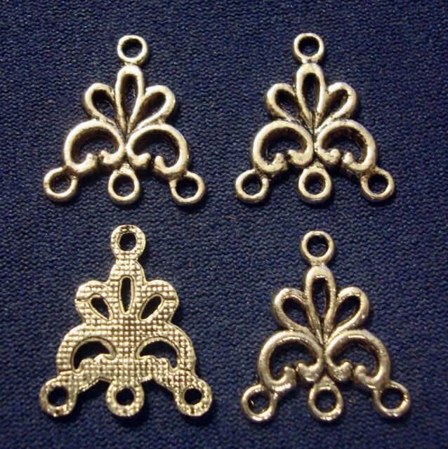 4 Antique Gold Tone Chandelier Hangers For Earrings /& Pendants Findings