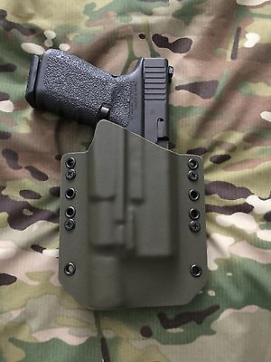Black Kydex Light Bearing Holster for Glock 19 23 32 Surefire X300 V Vampire