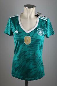 Deutschland-DFB-Damen-Trikot-Gr-XS-S-M-gruen-adidas-2018-WM-Away-Germany-Neu