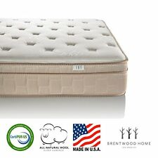 Brentwood Home Finale 10-Inch Eurotop 3-Zone Wrapped Spring Mattress Natural