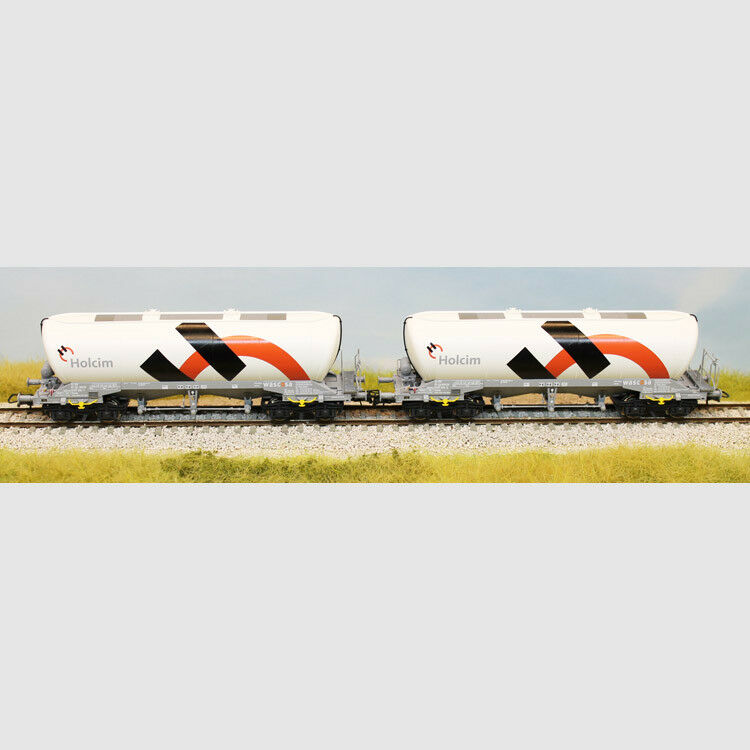 Set composto da 2 carri silos Holcim - Art. Roco 76138