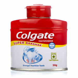 2x Colgate Tooth Powder Stronger Healthier Teeth 50 gm (Pack of 2)