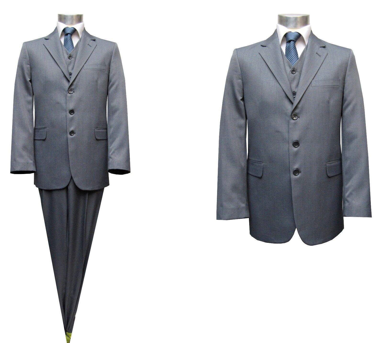 Herren Anzug 2-teilig Gr.46 Grau