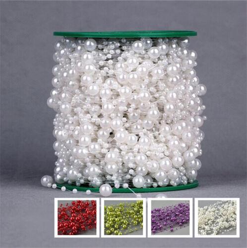 8+3mm Pearl Garland String Acrylic Beads Plastic Garlands Wedding Table Decor