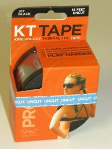 Details about  /KT TAPE Synthetic Kinesiology Tape 16 Feet Uncut {Jet Black} FAST FREE SHIPPING.