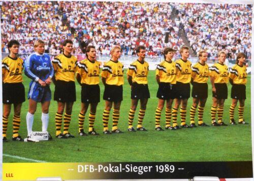DFB Pokal Sieger 1989 Fan Big Card Edition F153 Borussia Dortmund