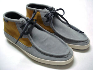 3ee92aeb5e Vans Off The Wall Surf Rata Mid Gray Mustard Yellow Suede Shoes Mens ...