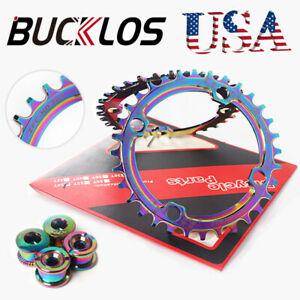 BUCKLOS 104bcd Narrow Wide Colorful Single Chainring Titanium plating Chainwheel
