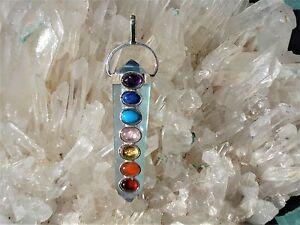 7-Gemstone-Chakra-Pendant-Aqua-Aura-Quartz-24K-Gold-Infused-Quartz-All-Chakras