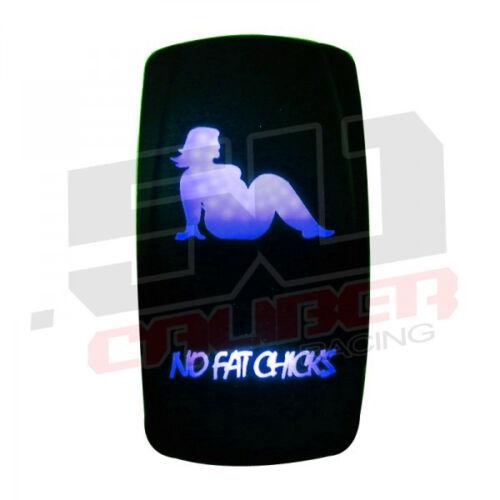 "Blue ""No Fat Chicks"" Rocker Switch Moomba Nautique Epic Sea-Doo Supra Boat"