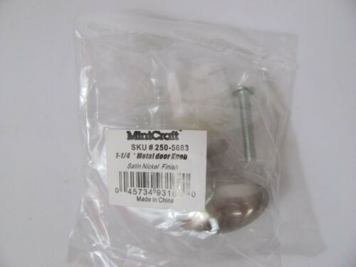 "Mintcraft SF671-31BNI 250-5683 Oval Brushed Satin Nickel 1-1//4 /"" Cabinet Knob"