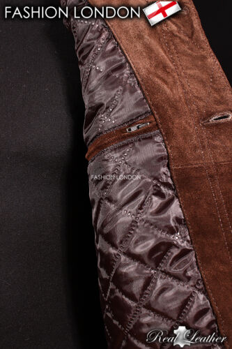 /'ARIZONA/' Men/'s Brown SUEDE Stitch Western Real Cowhide Leather Classic Jacket