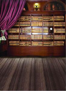 Image Is Loading 5x7ft Vinyl Studio Photography Backdrop Bookshelf Bookcase Photo