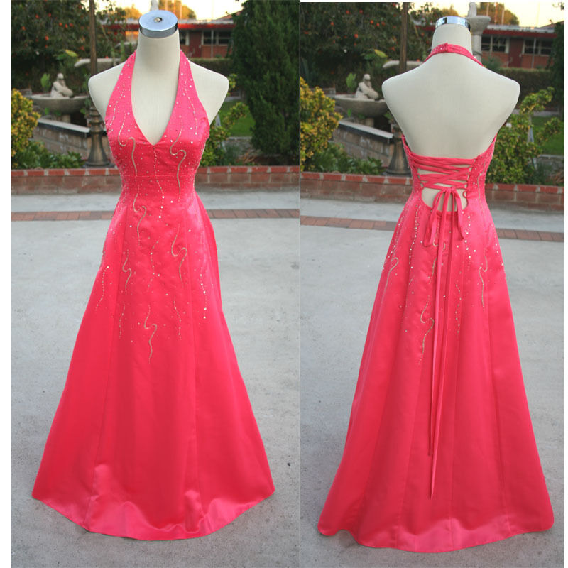NWT MORGAN & CO  150 Watermelon Evening Formal Gown 5