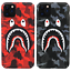 Bape-Camo-Shark-Glow-in-the-dark-Hard-Case-Cover-For-iPhone-11-Pro-Max-XS-XR-8-7 miniature 1