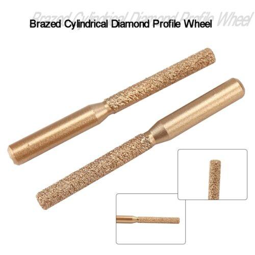 """Golden 1//4/""""Shank Vacuum Brazed Straight Diamond Profile Wheel Router Finger Bits"""