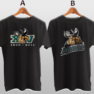 Manitoba Moose Canadian Ice Hockey Team New Cotton T-Shirt