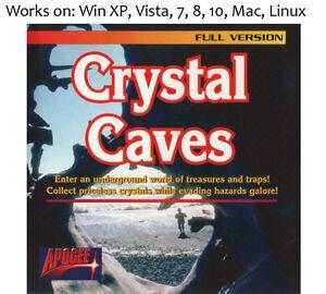 Crystal-Caves-PC-Mac-Linux-Game-Apogee-1991-Windows-XP-Vista-7-8-10